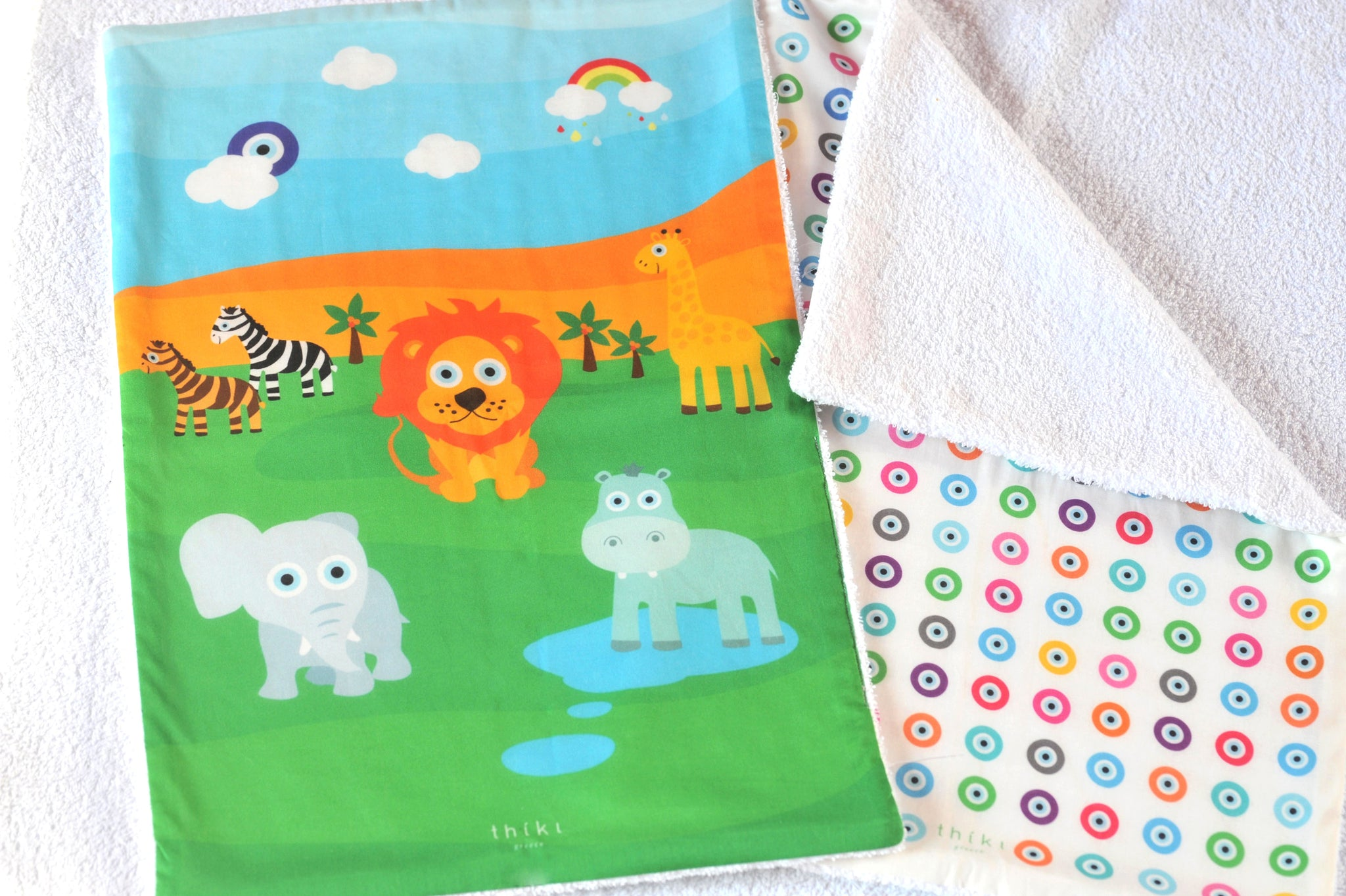 Jungle Eye Burp towel