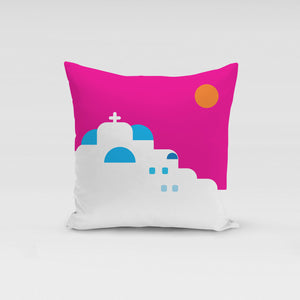 Sunset in Cyclades Pillow