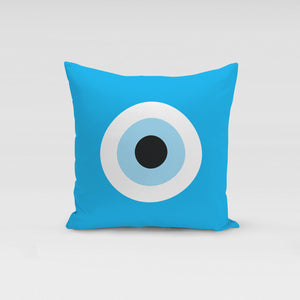 Turquoise Evil Eye Pillow