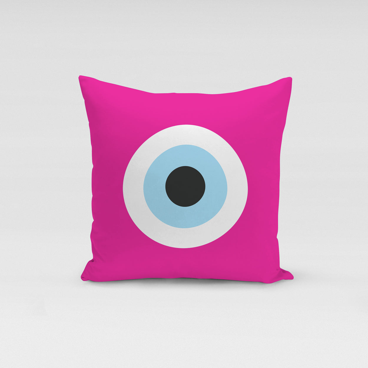 Fucshia Evil Eye Pillow