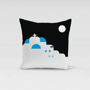 Moonlight in Cyclades Pillow