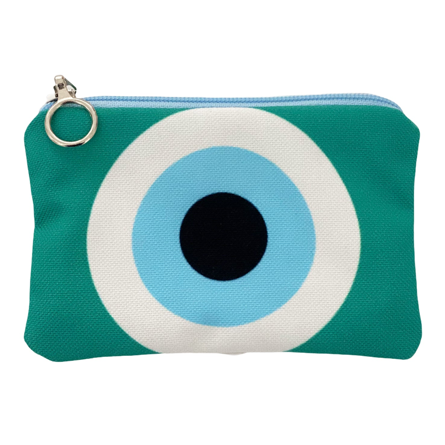 Mint evil eye mini coin purse