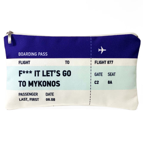 Lets go to Mykonos ticket bag