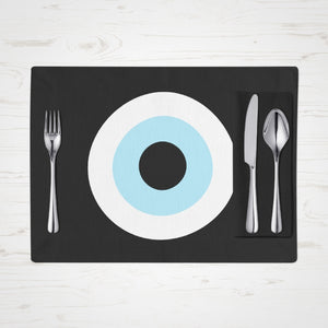 Black Evil Eye placemats