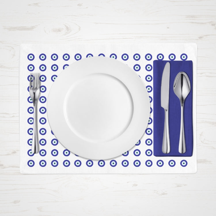 Evil Eye pattern placemats