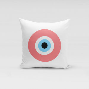 Peach Evil Eye Pillow