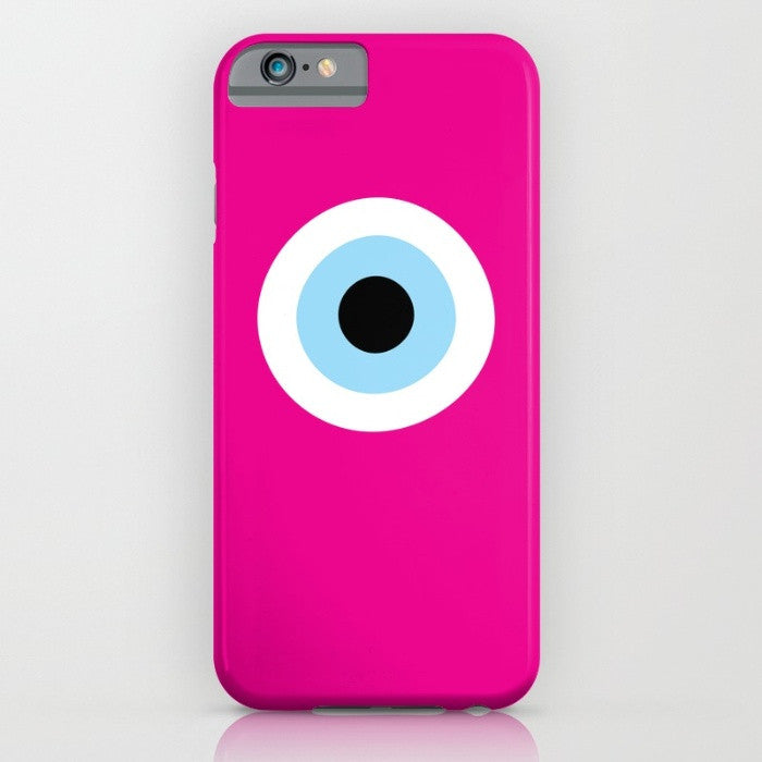 Fuchsia Evil Eye phone case for iPhone 6/6s