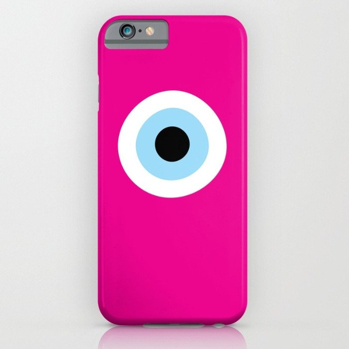 Fuchsia Evil Eye phone case for iPhone 7/8