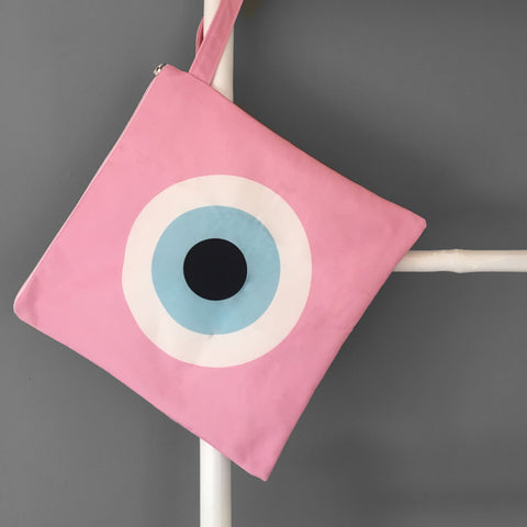 Pink Evil Eye Swim Bag