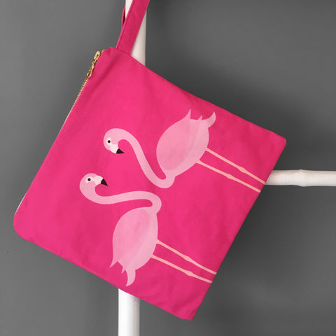 Pink Flamingos Swim Bag