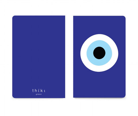 Blue evil eye pocket notebook