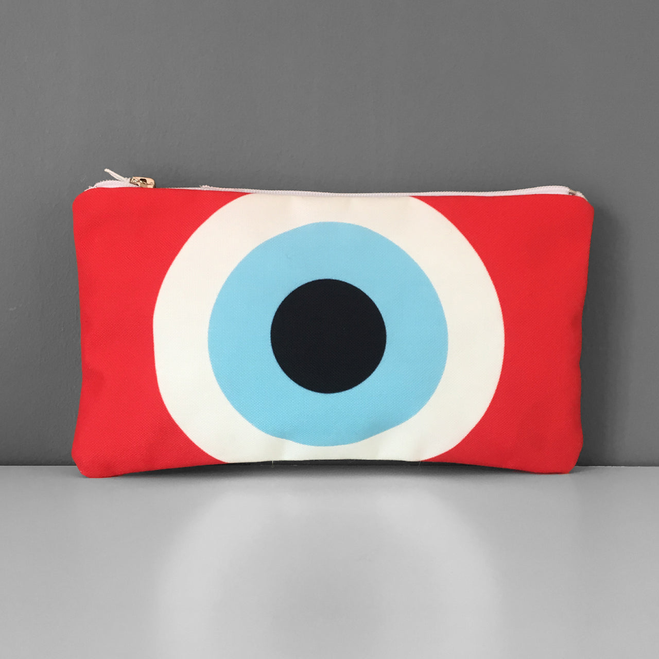 Red Evil Eye cosmetic bag