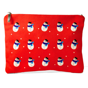 Red Snowman Christmas bag