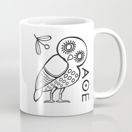 The Athenian Owl mug