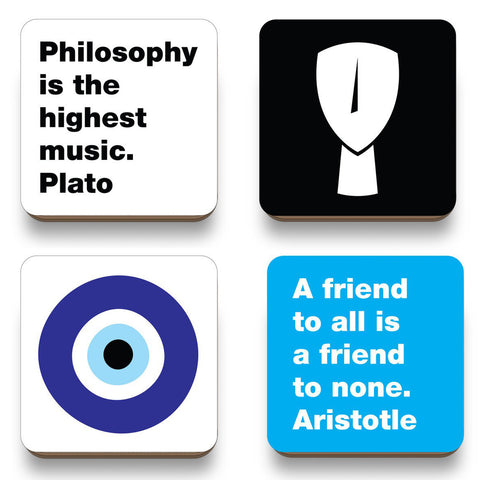 Cycladic art & philosophy coasters