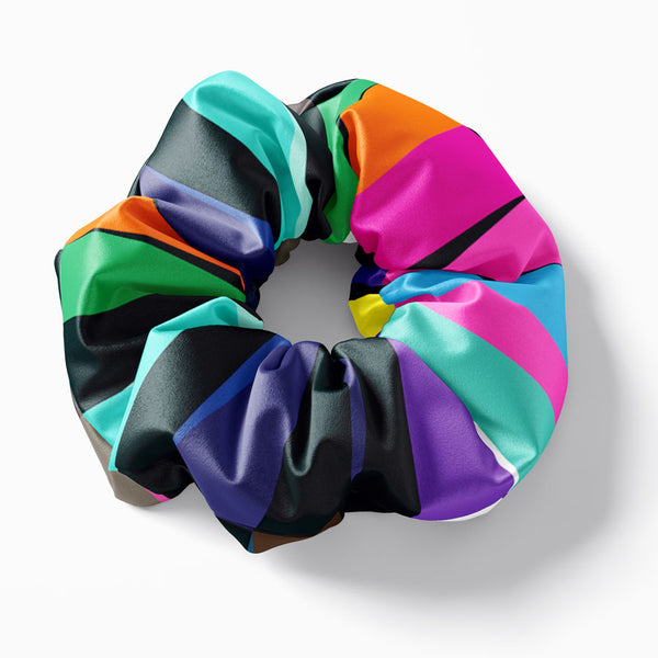 Sunset stripes scrunchie