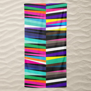 Summer Stripes Beach Towel