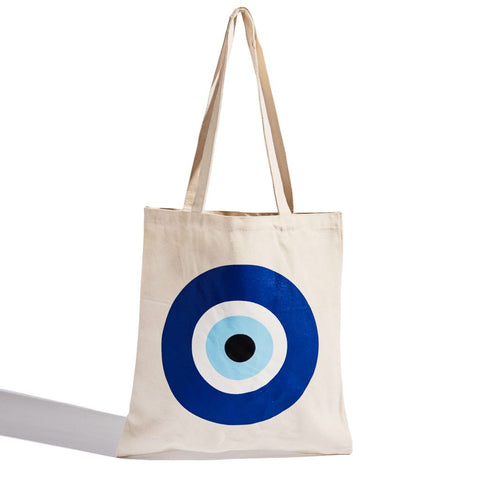 Evil Eye canvas tote bag