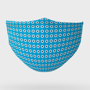 Turquoise Evil Eye face mask
