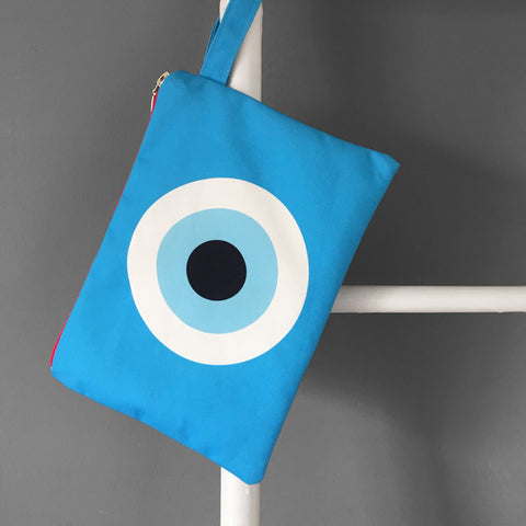 Turquoise Evil Eye Clutch