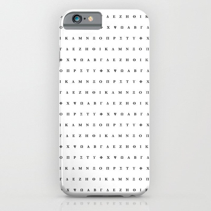 Greek Alphabet phone case for iPhone 6/6s