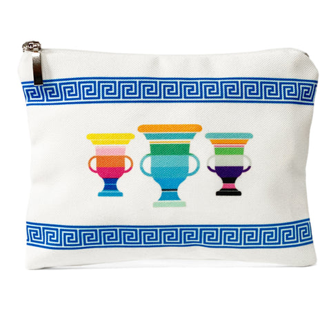 White meander amphorae bag