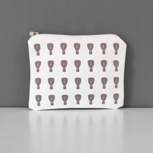Cycladic White Beige coin purse