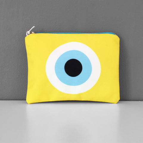 Yellow Evil Eye coin purse
