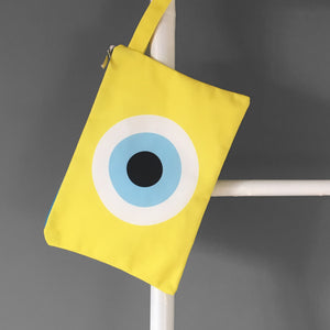 Yellow Evil Eye Clutch