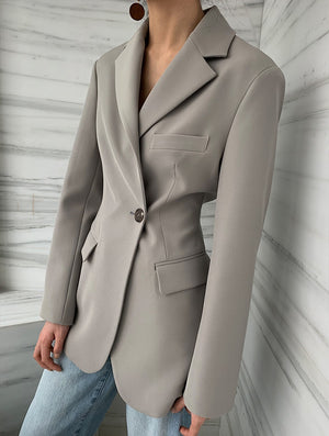 BAILEY TAILORED JACKET -ASH