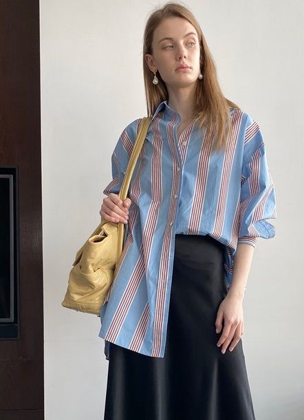MISHA- OVERSIZED STRIPE SHIRT
