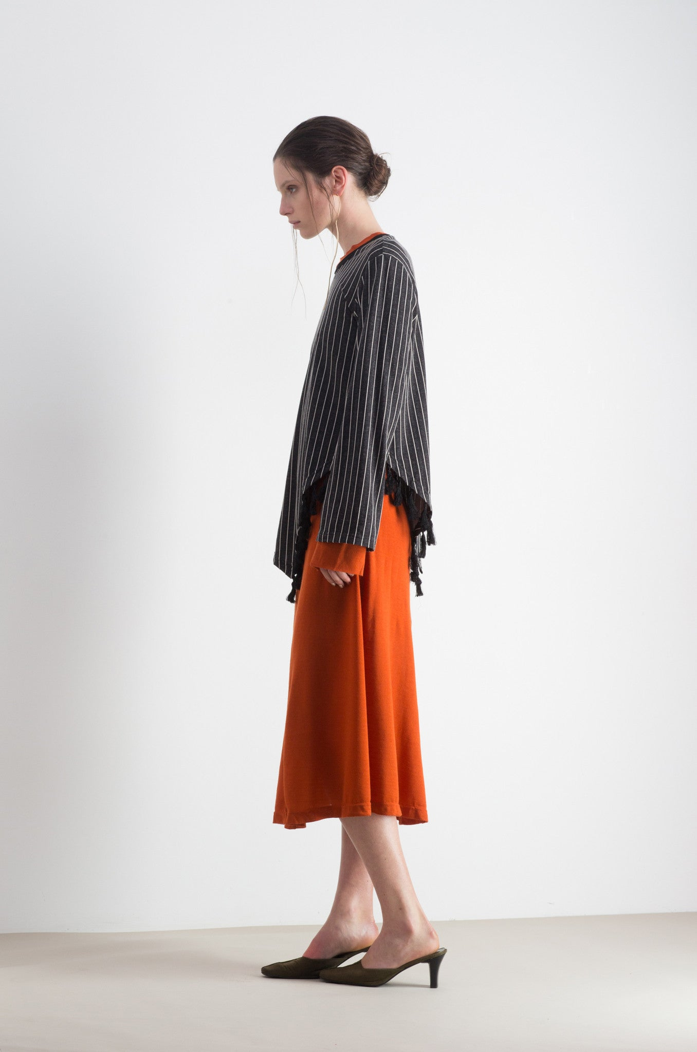 Atomic Tassel Jumper- Black Stripe