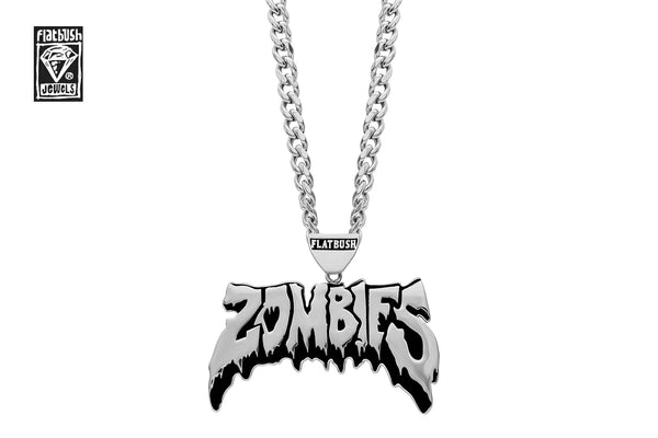 OG ZOMBIES NECKLACE IN BLACK SILVER.