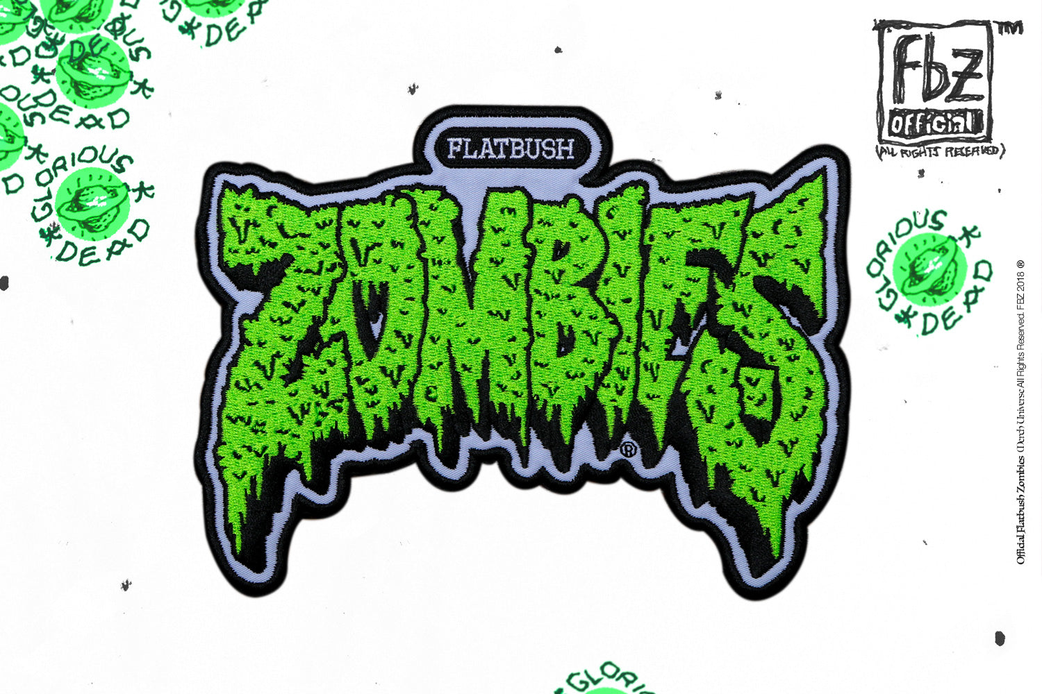 "FLATBUSH ZOMBIES 7"" PATCH"