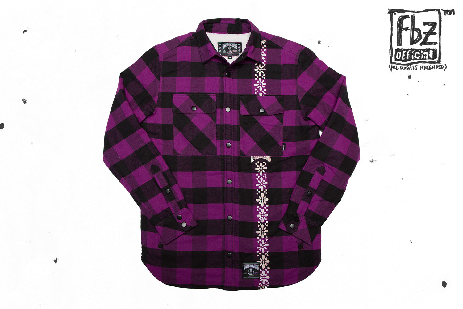 FLANNEL SHACKET ROYAL PURPLE