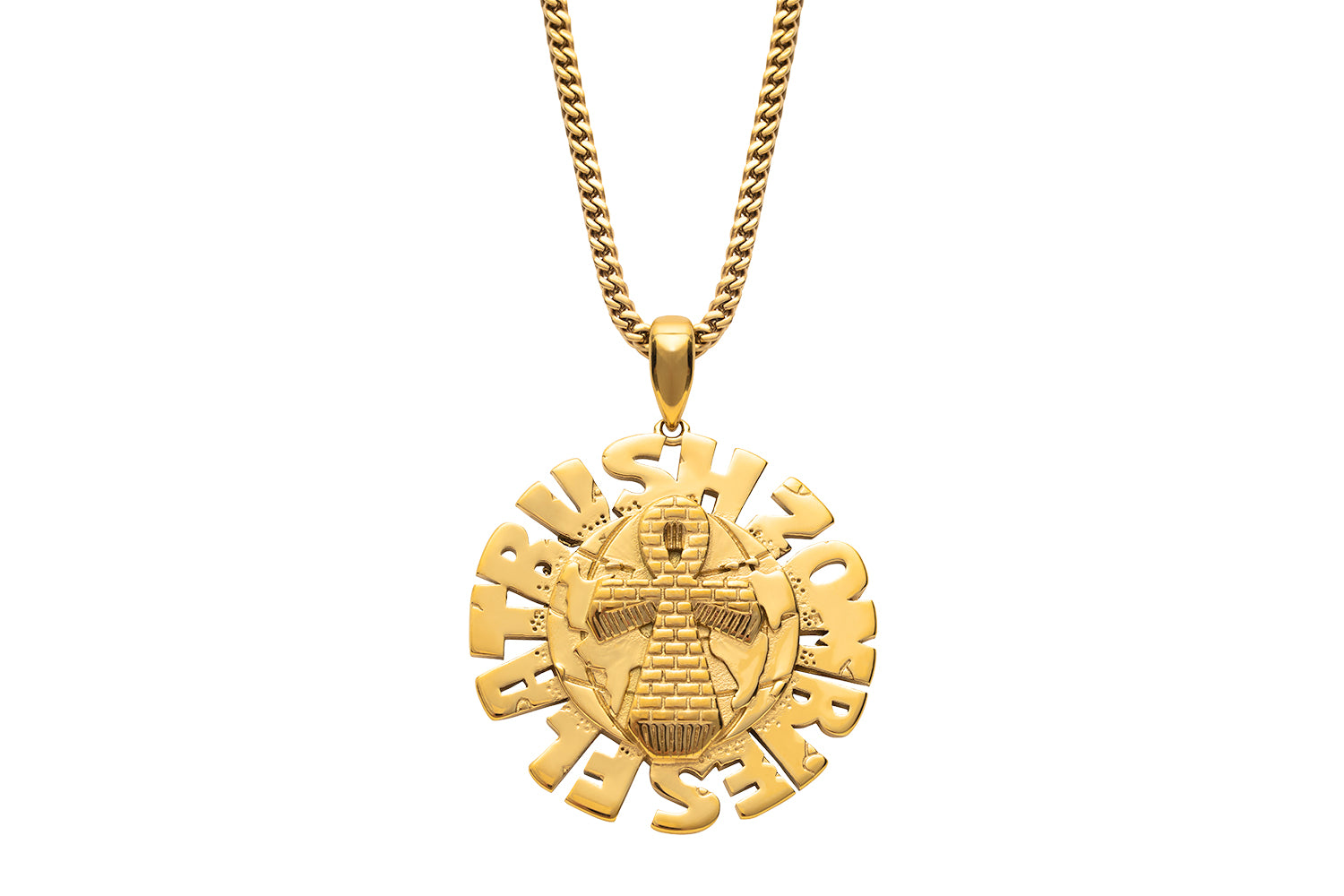 FBZ ANKH GLOBE PENDANT NECKLACE.