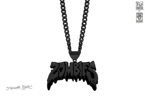 OG ZOMBIES NECKLACE IN FOREVER NOIR.