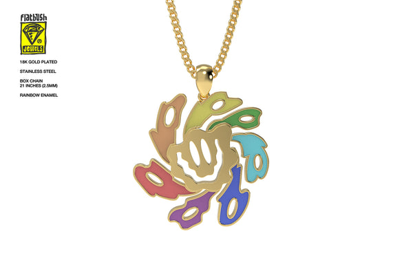 Rainbow Smiley Necklace.