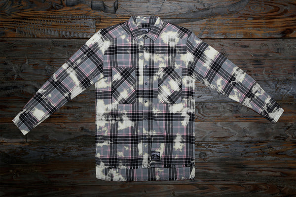 ZOMBIE! BLACK BLEACH FLANNEL