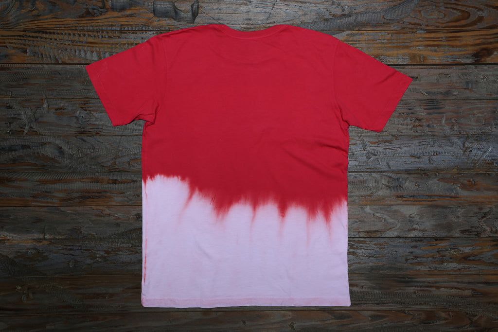 RED/WHITE DIP DYE