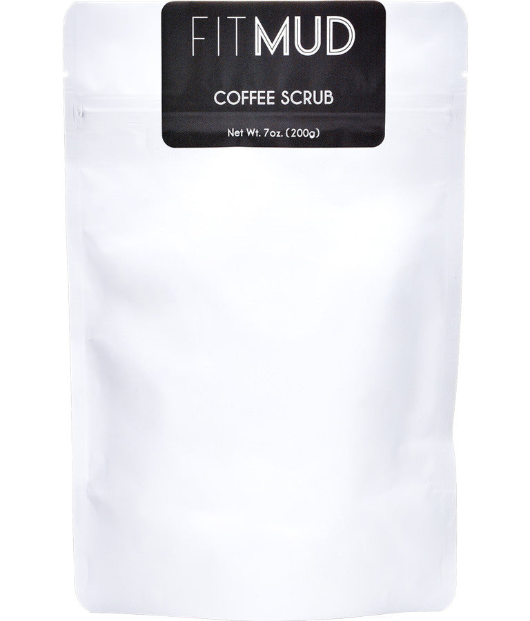 coconut coffee body scrub front
