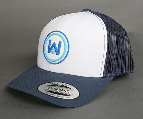 WaterPORT Snapback Cap | White and Blue