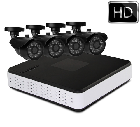 Zendle 4CH 720P AHD Security Camera System