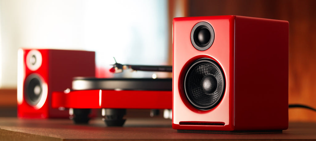 Audioengine A2+ Wireless Speakers in Red