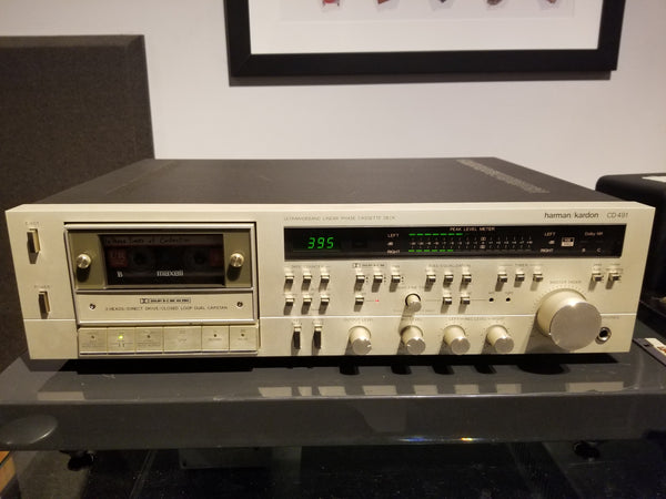 Harman/Kardon CD 491 Ultrawideband Liner Cassette Deck - Fully Serviced