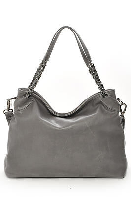 Shoulder Bag with Chain Handles and Inside Zipper pockets