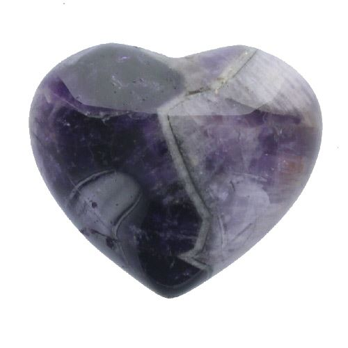 Amethyst Gemstone Heart Large