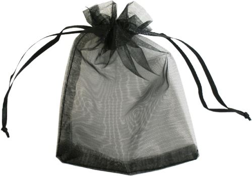 Black Organza Bag
