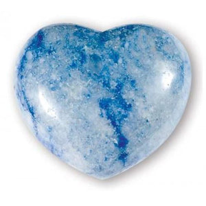 Blue Quartz Gemstone Heart Large