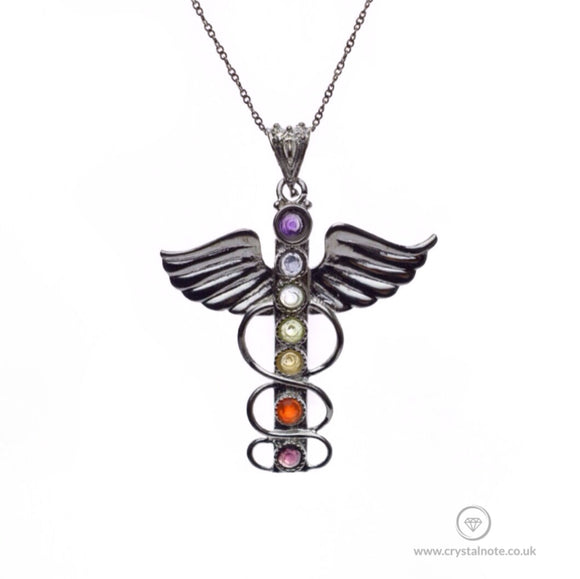 Caduceus Chakra Pendant Crystal Note